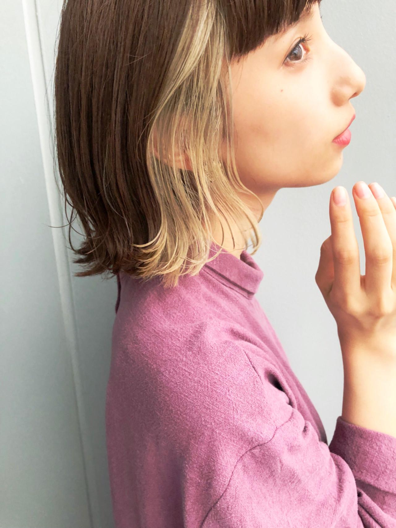 色気 切りっぱなし 透明感 フェミニン ヘアスタイルや髪型の写真・画像
