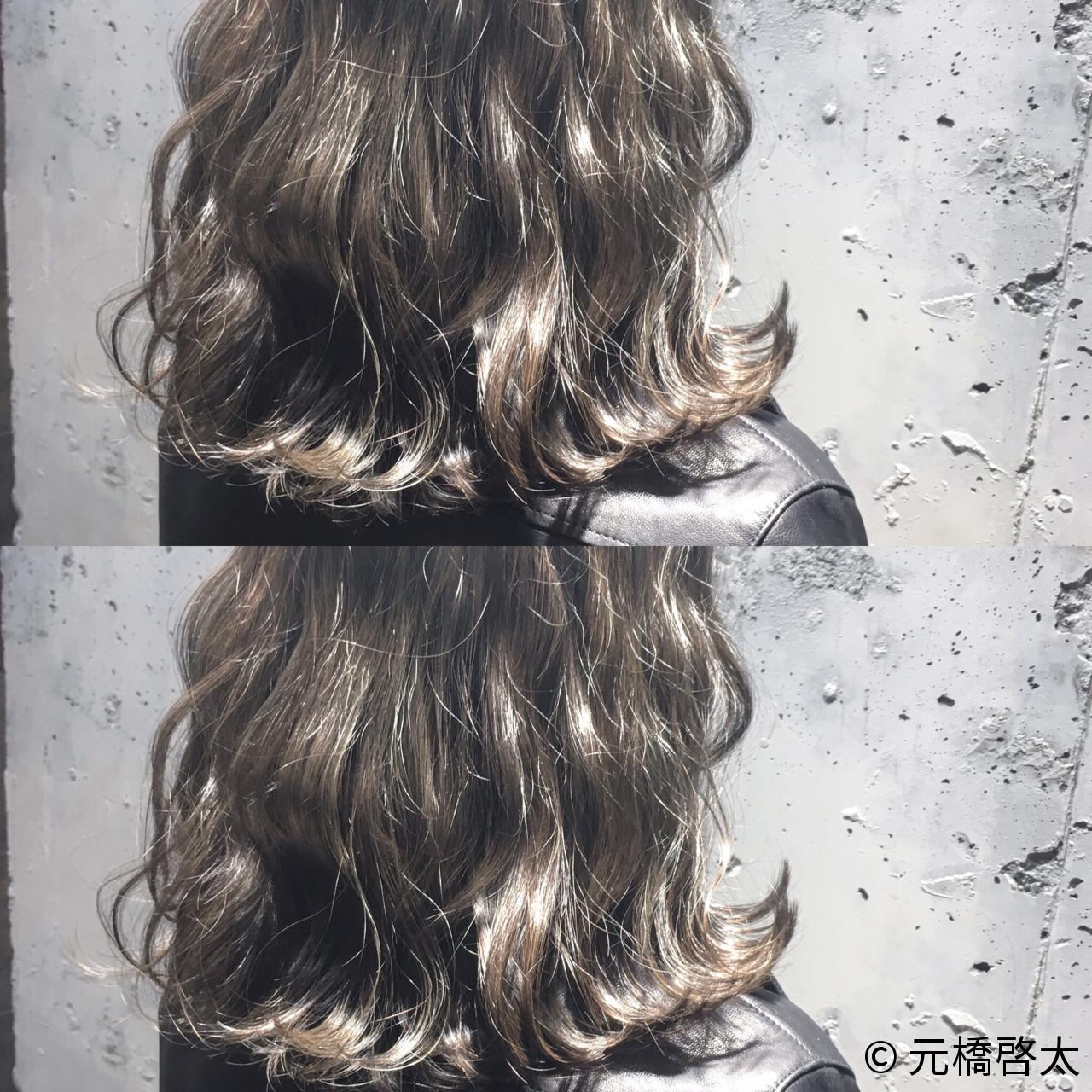 ゆるふわ ストリート 外国人風 ハイライト ヘアスタイルや髪型の写真・画像