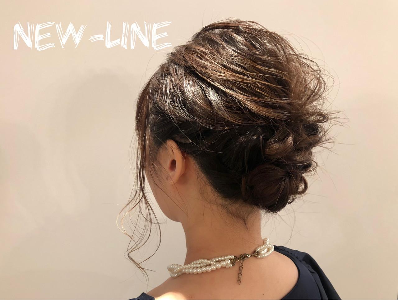 デート 簡単ヘアアレンジ オフィス 結婚式 ヘアスタイルや髪型の写真・画像