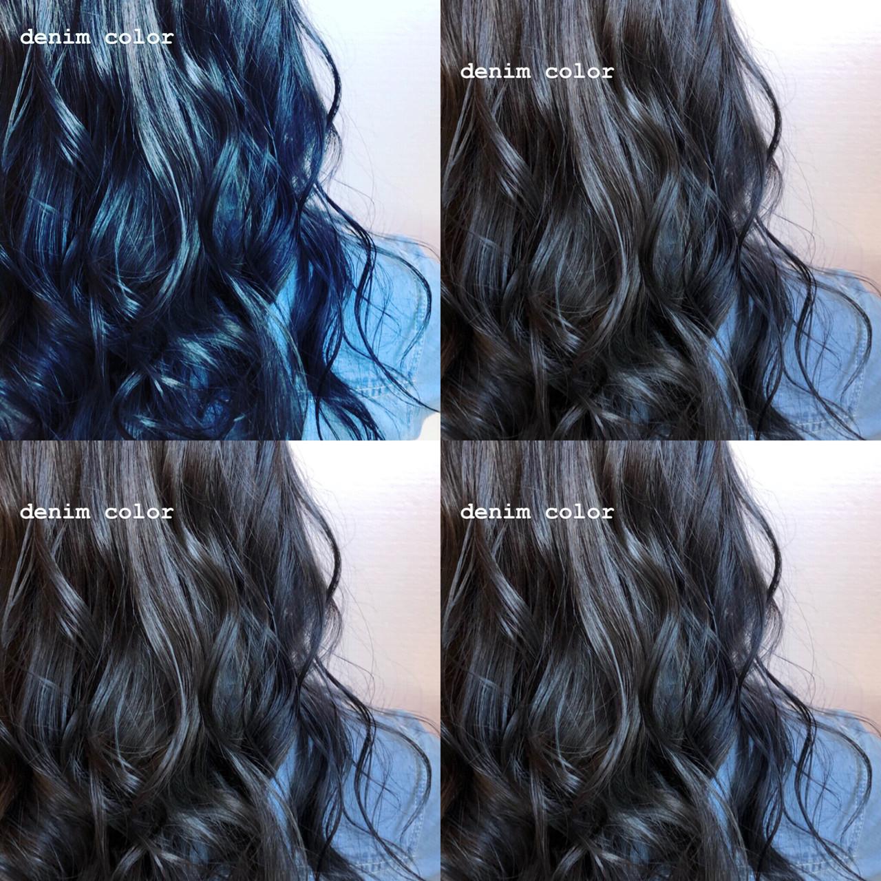 西海岸風 ロング ストリート ネイビーカラー ヘアスタイルや髪型の写真・画像   TMe hair/tomoe chiba / TMe hair川崎小田