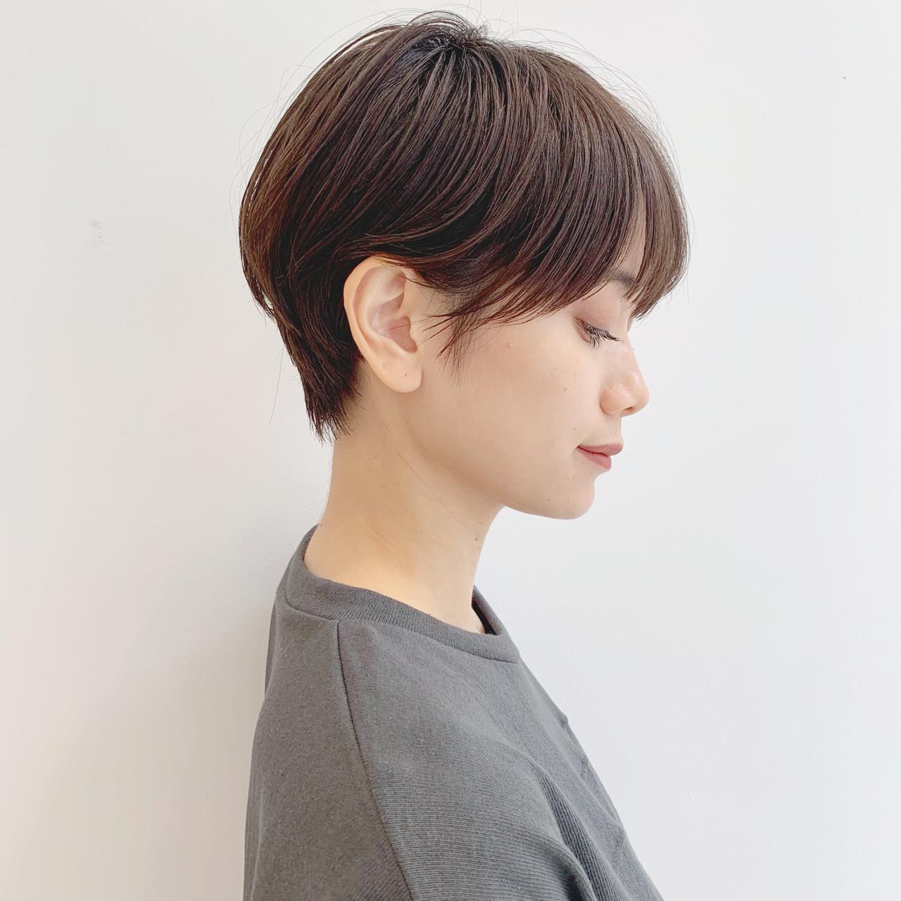 モード アウトドア ハンサムショート ショート ヘアスタイルや髪型の写真・画像