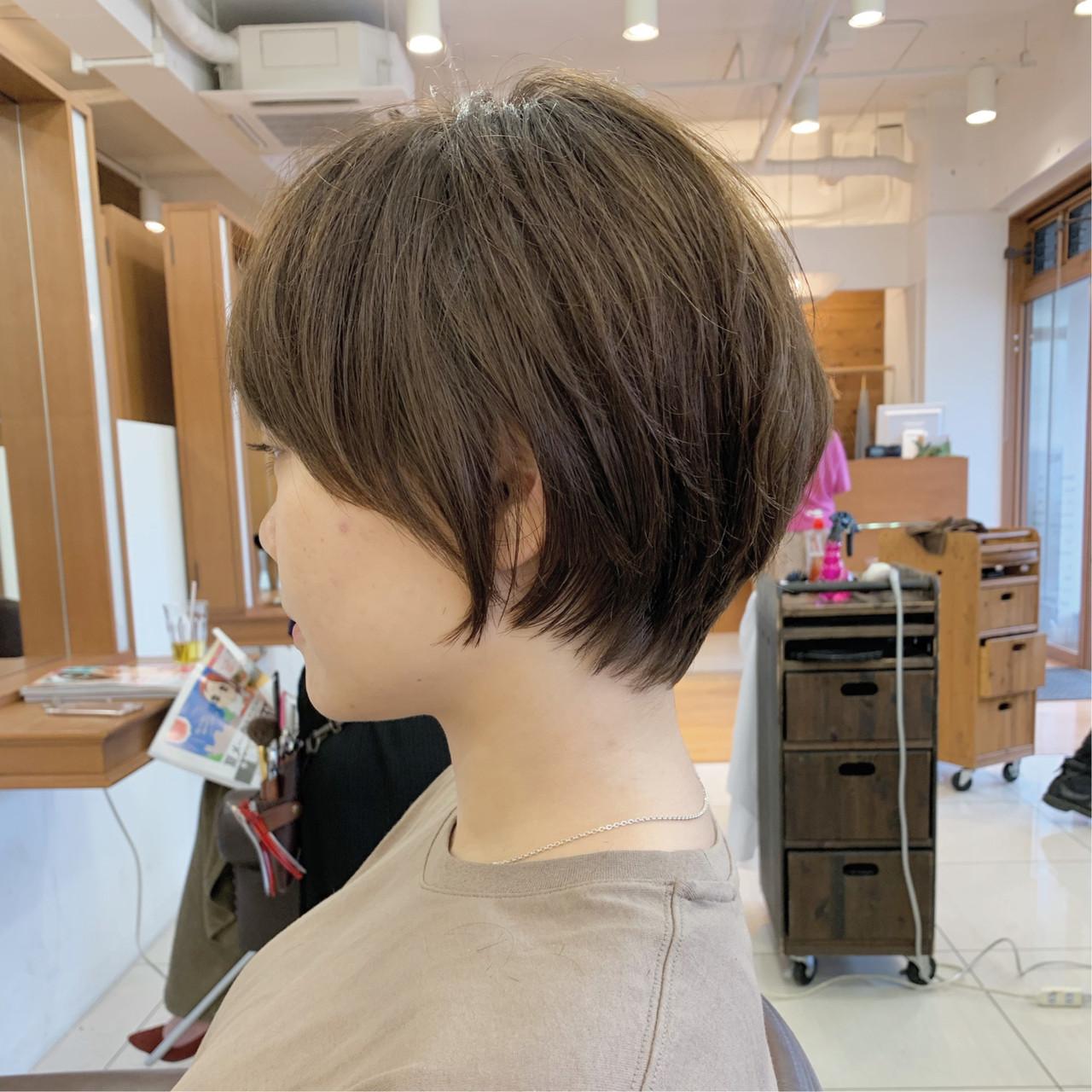 ショート ショートヘア 大人可愛い ふんわりショート ヘアスタイルや髪型の写真・画像