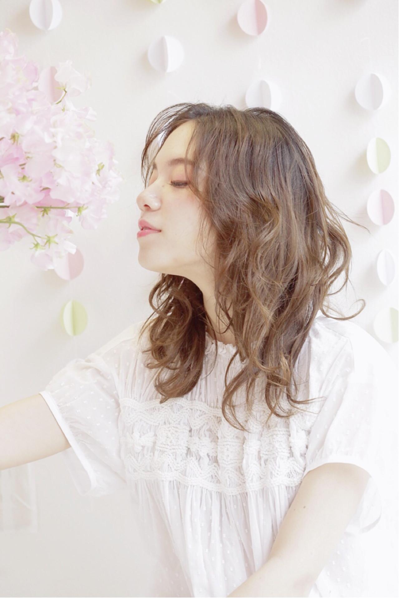 愛され ゆるふわ ピュア ナチュラル ヘアスタイルや髪型の写真・画像 | 竹村 春香 / 自由が丘 Hair Salon pele