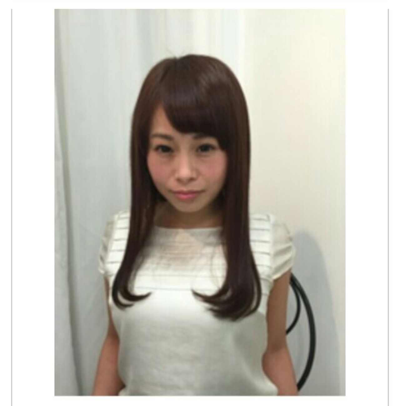 ロング ストレート エレガント 透明感 ヘアスタイルや髪型の写真・画像