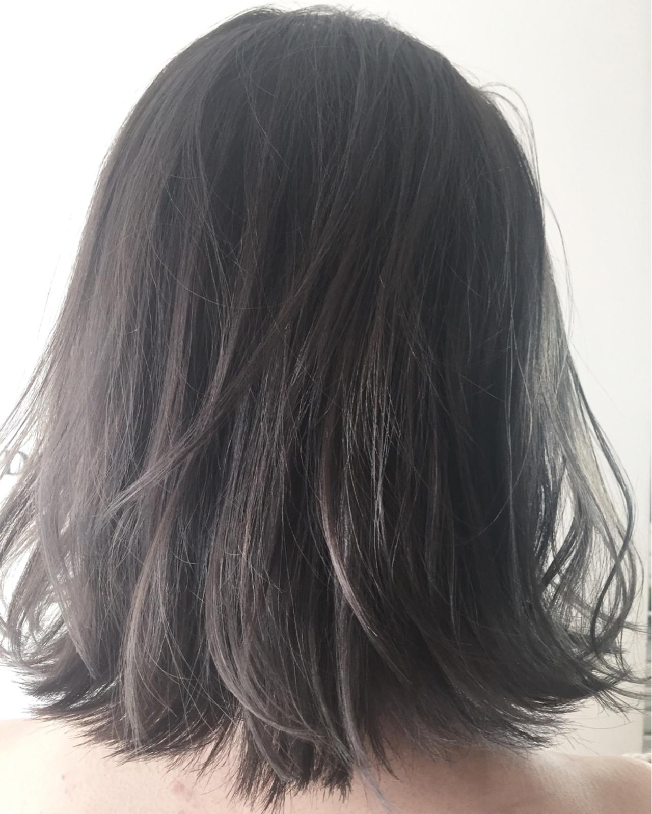 アッシュ ハイライト ボブ ブリーチ ヘアスタイルや髪型の写真・画像   ナベ / EIGHT hair salon