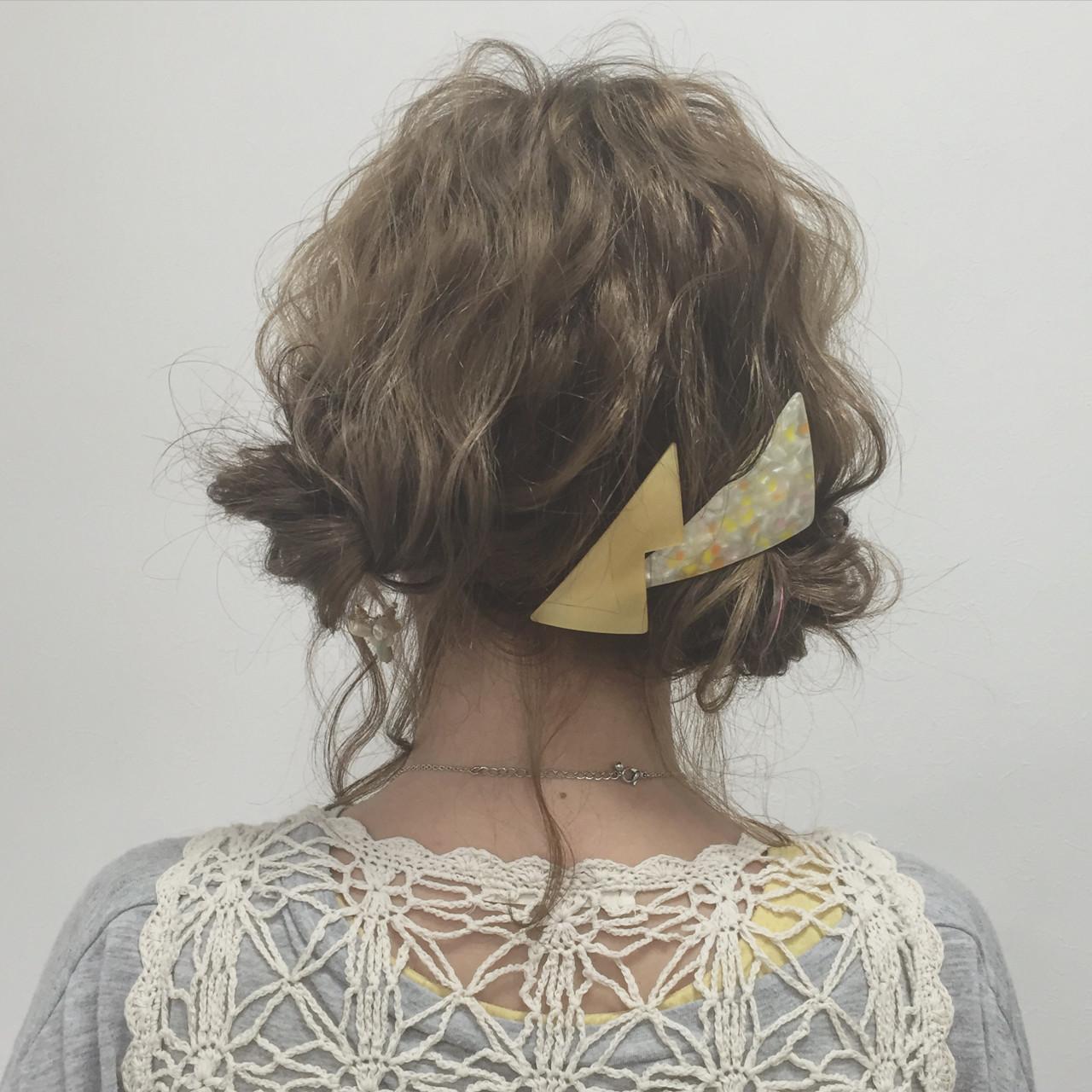 ボブ ショート ゆるふわ お団子 ヘアスタイルや髪型の写真・画像 | 宮田 恵里香 / igloo