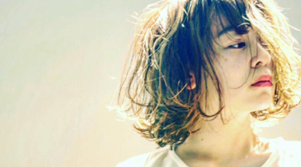 セクシー こなれ感 ボブ ストリート ヘアスタイルや髪型の写真・画像 | ken / sora