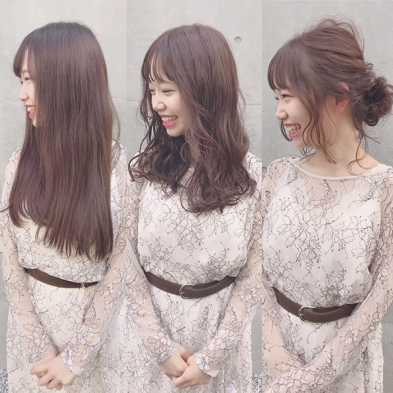 冬 ナチュラル おフェロ ロング ヘアスタイルや髪型の写真・画像 | Wataru Maeda / cache cache
