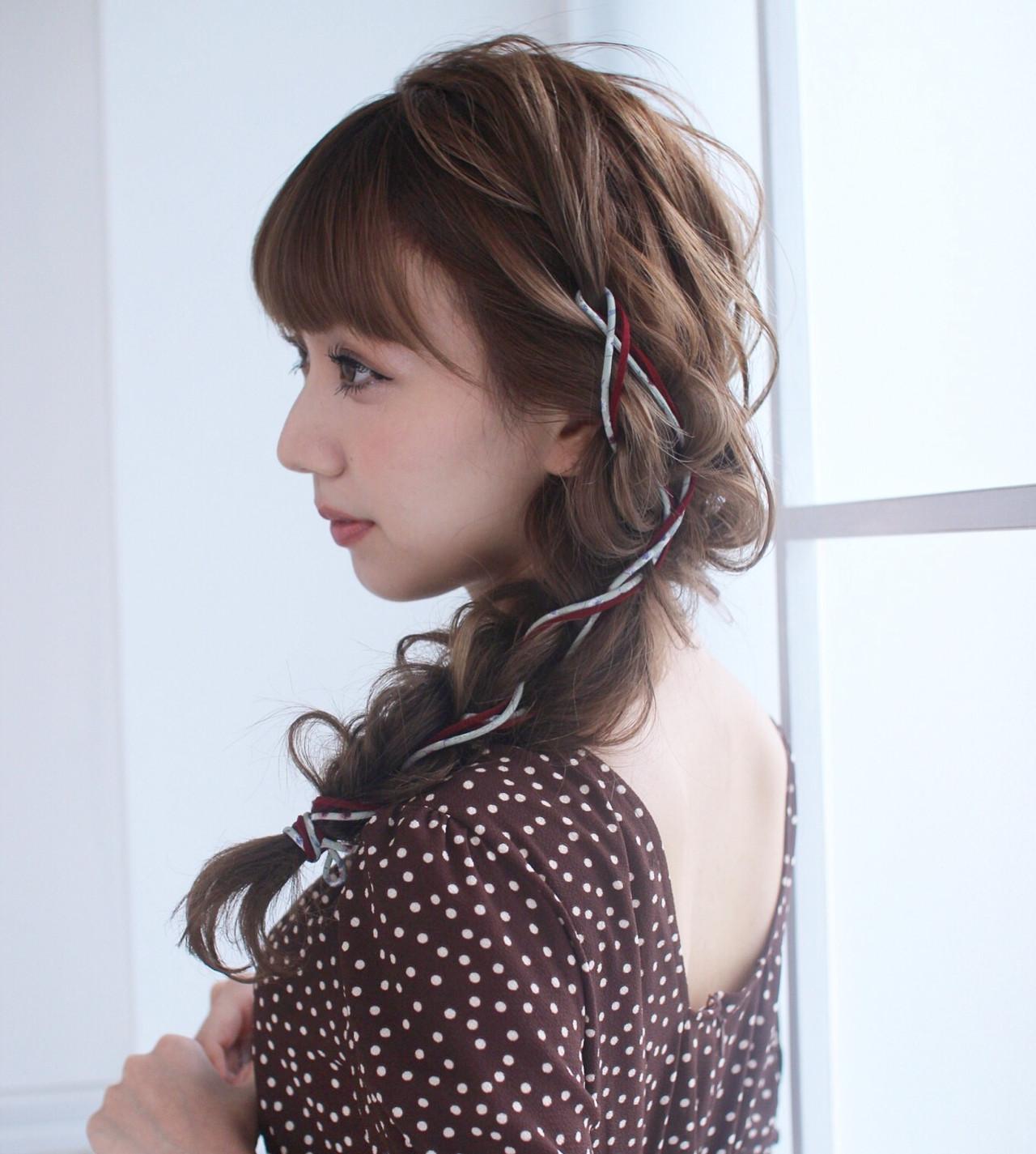 結婚式 デート ロング ナチュラル ヘアスタイルや髪型の写真・画像 | amico/佐藤 友理 / AMICO