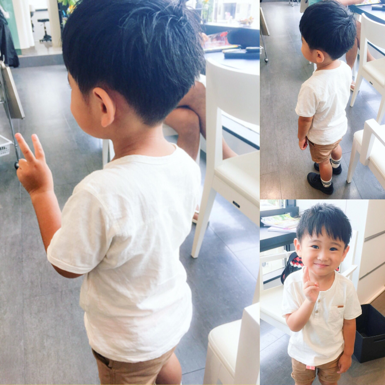 ボーイッシュ メンズ 子供 ショート ヘアスタイルや髪型の写真・画像