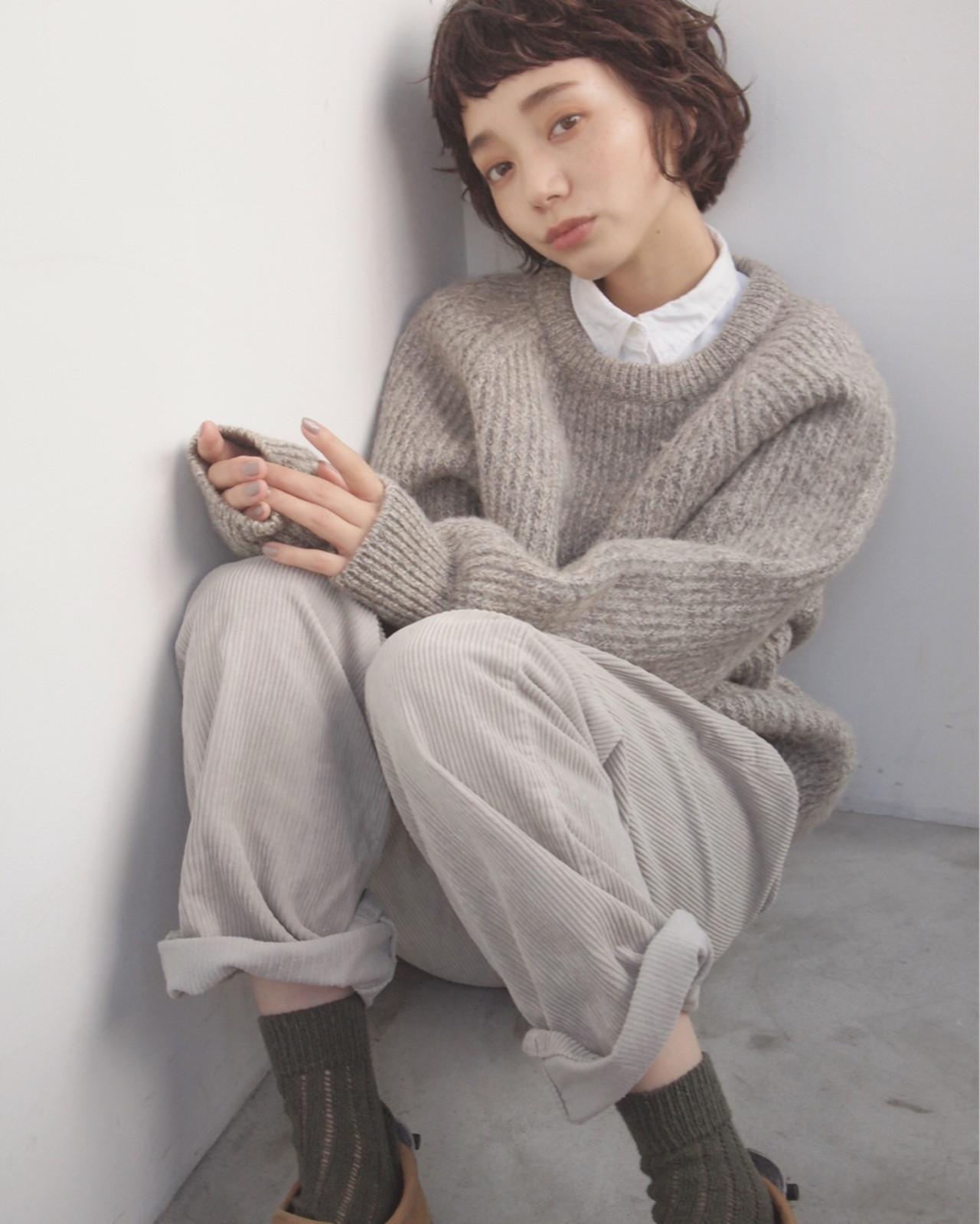 パーマ ショート ゆるふわ ショートボブ ヘアスタイルや髪型の写真・画像 | UEKI/nanuk / nanuk二子玉川