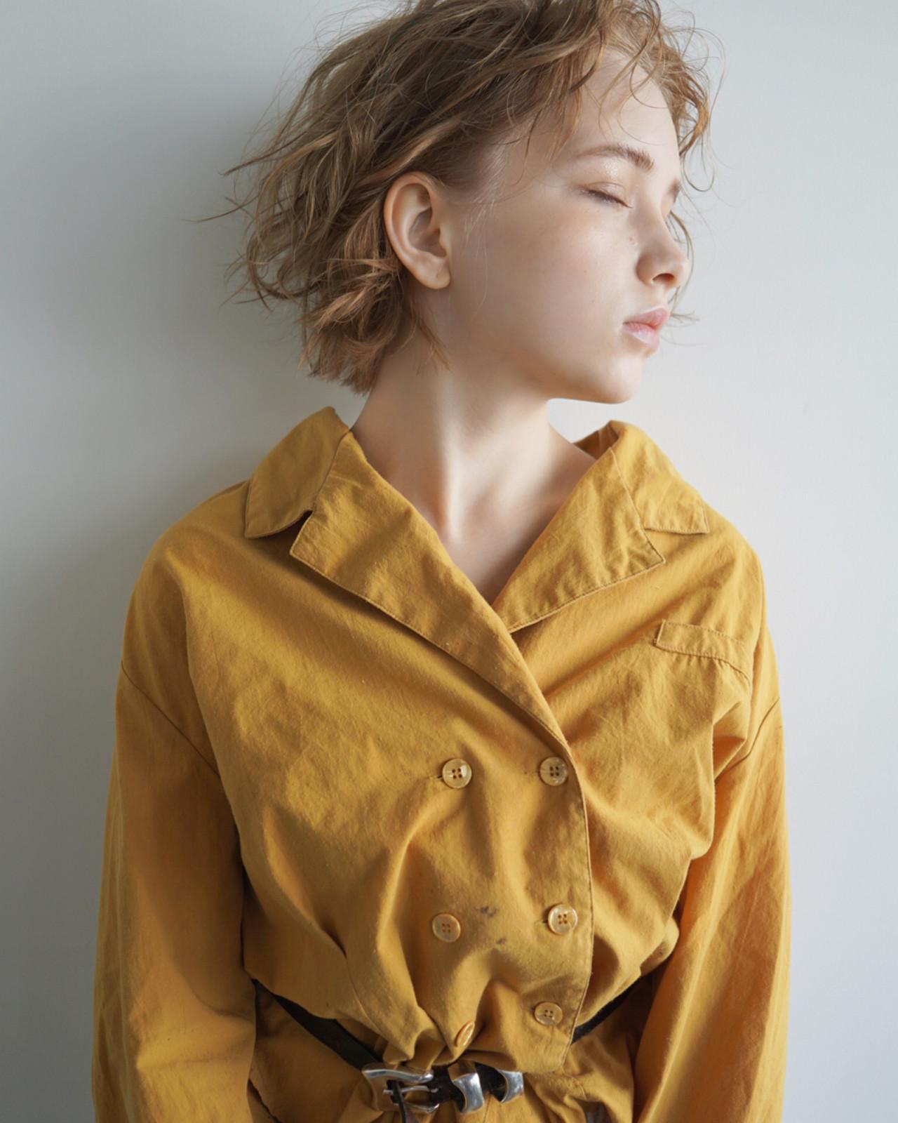 アンニュイ ヘアアレンジ ウェットヘア ナチュラル ヘアスタイルや髪型の写真・画像