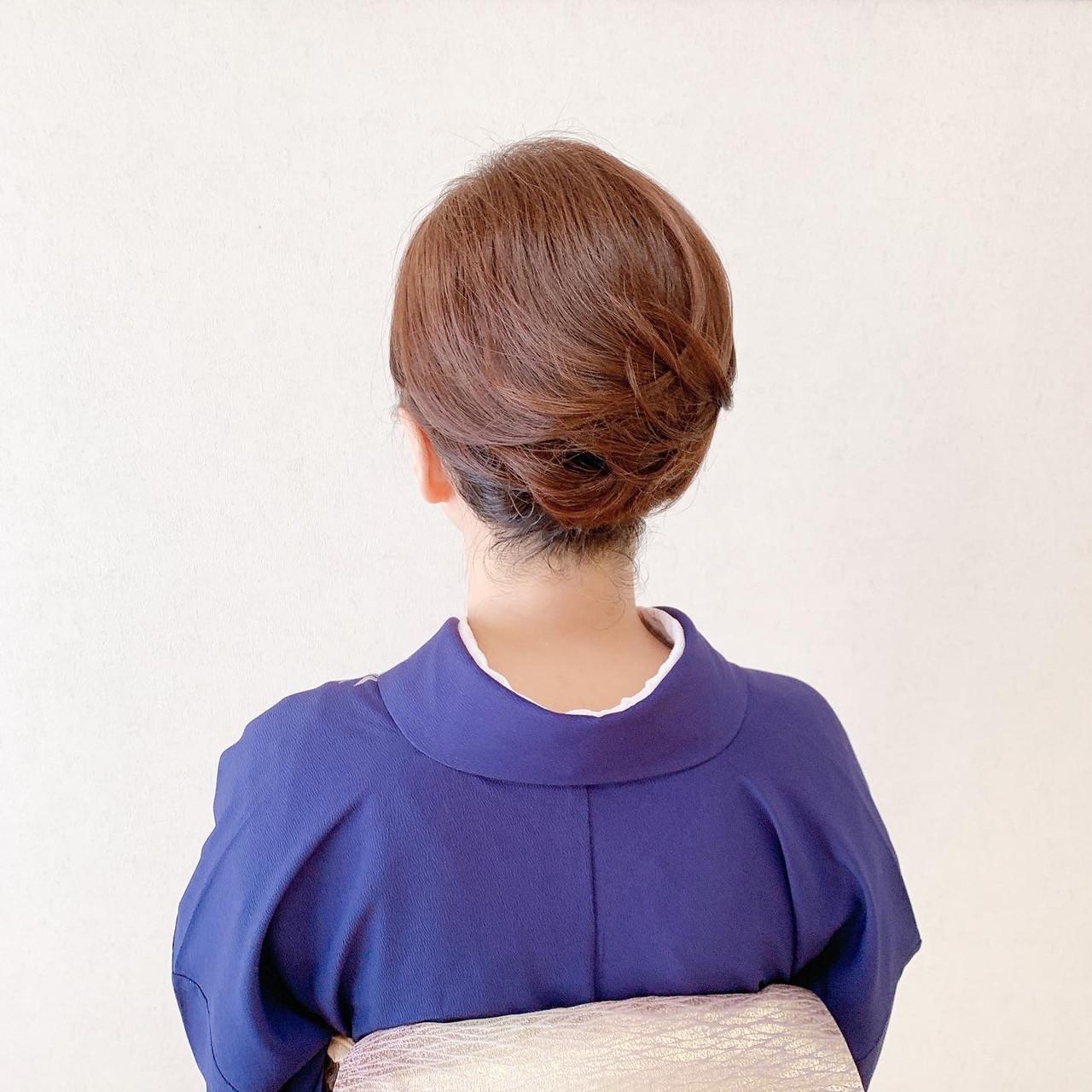 ボブ 訪問着 結婚式ヘアアレンジ 着物 ヘアスタイルや髪型の写真・画像   Moriyama Mami / 福岡天神ヘアセット・着付け専門店【Three-keys】