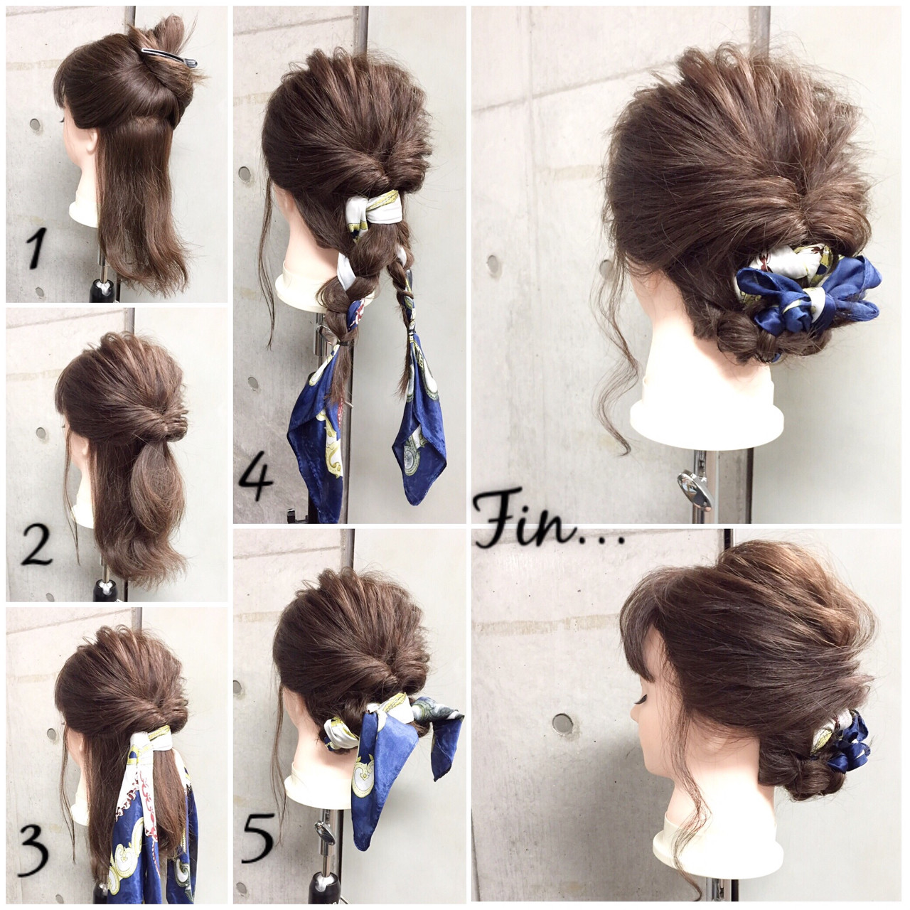 くるりんぱ 大人女子 シニヨン ヘアアレンジ ヘアスタイルや髪型の写真・画像
