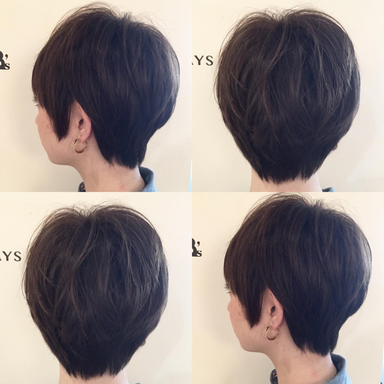 ハイトーン ガーリー アッシュグレージュ ショート ヘアスタイルや髪型の写真・画像 | ナベ / EIGHT hair salon