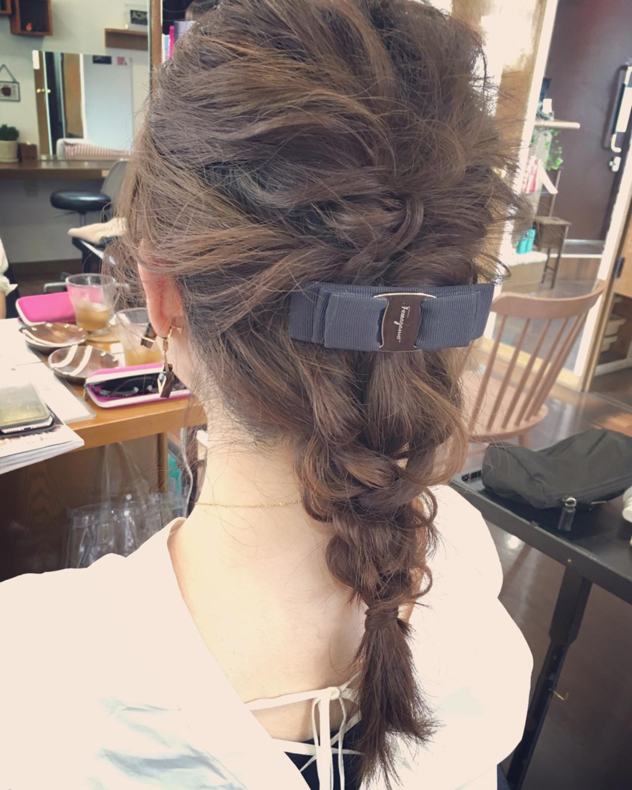 結婚式 簡単ヘアアレンジ デート 上品 ヘアスタイルや髪型の写真・画像 | 川田 舞 / claude MONET 吉祥寺店