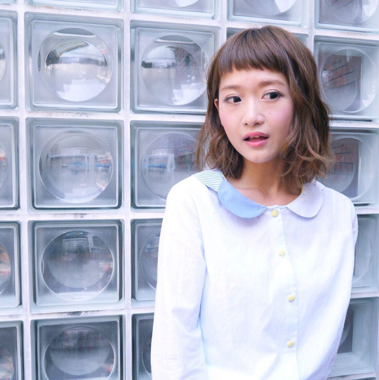 小顔に見せる効果抜群。自然でキュートな印象を生み出す魔法の前髪♡ Chihiro Hayakawa