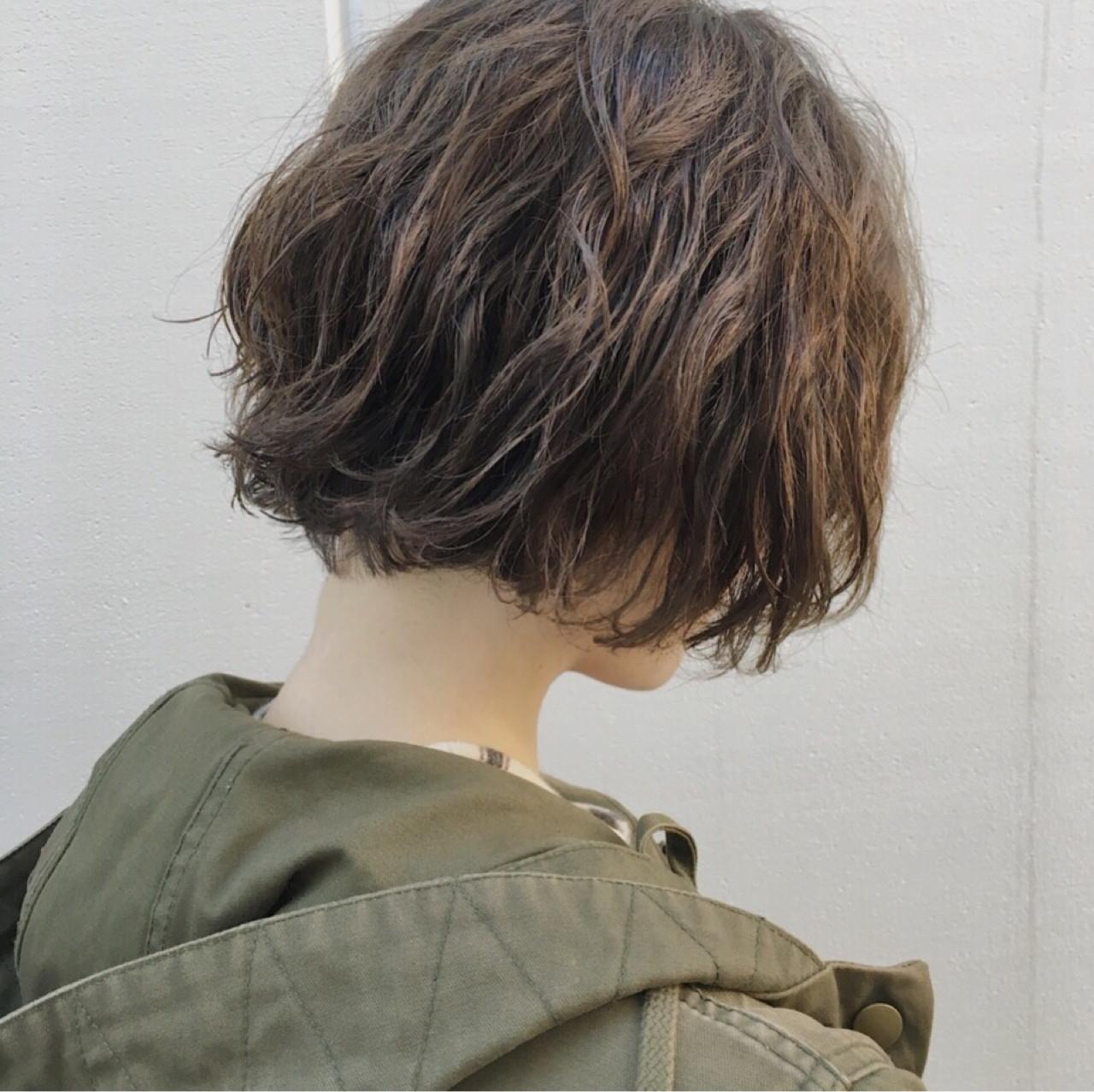ショート ショートボブ 抜け感 モード ヘアスタイルや髪型の写真・画像