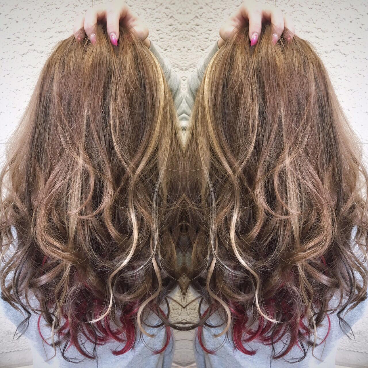 ローライト 外国人風カラー インナーカラー 外国人風 ヘアスタイルや髪型の写真・画像