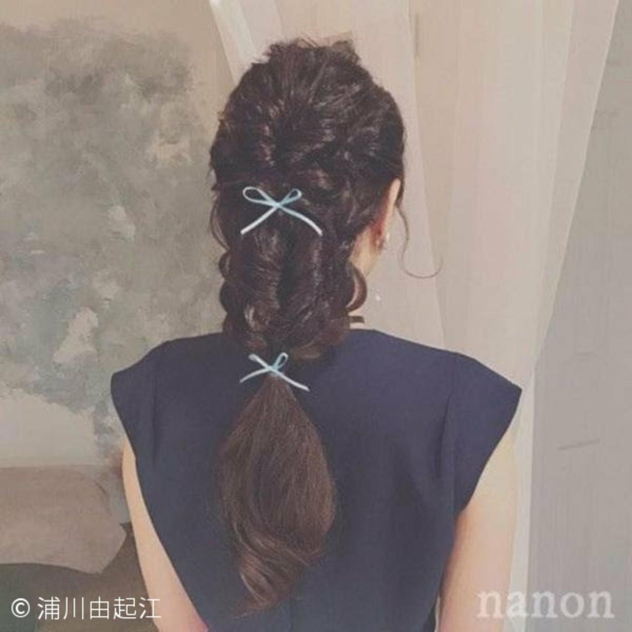 ロング ゆるふわ ヘアアレンジ 大人かわいい ヘアスタイルや髪型の写真・画像 | 浦川由起江 / nanon