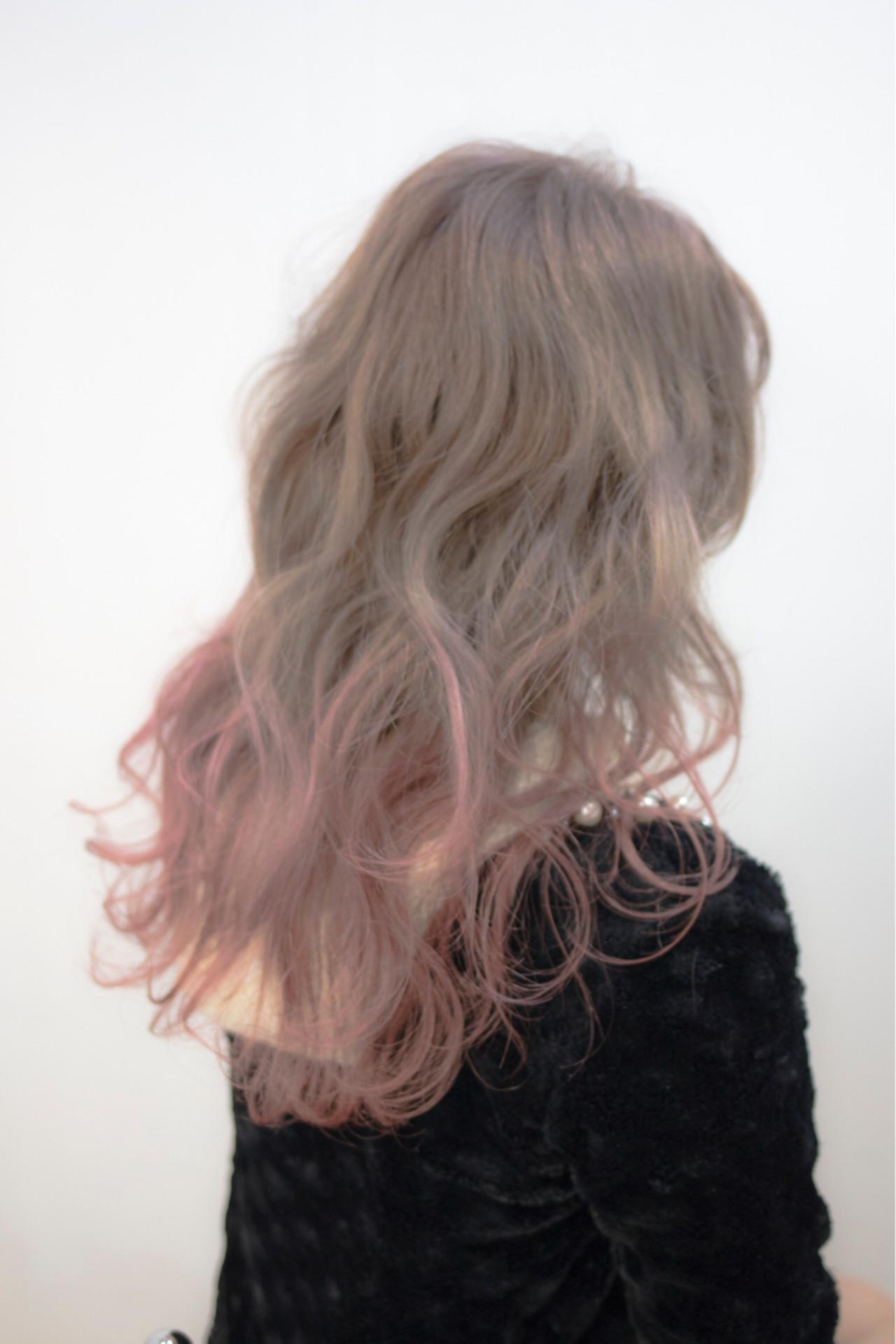 透明感 おフェロ ストリート セミロング ヘアスタイルや髪型の写真・画像