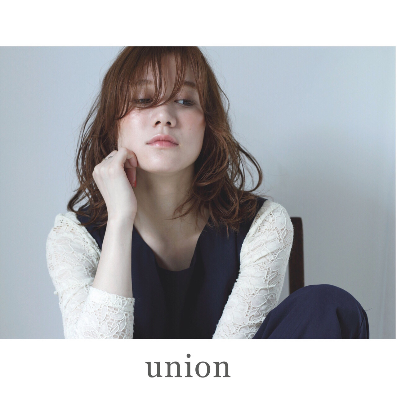 アッシュ 外国人風 ミディアム ゆるふわ ヘアスタイルや髪型の写真・画像   UNION 坂下 創 / UNION