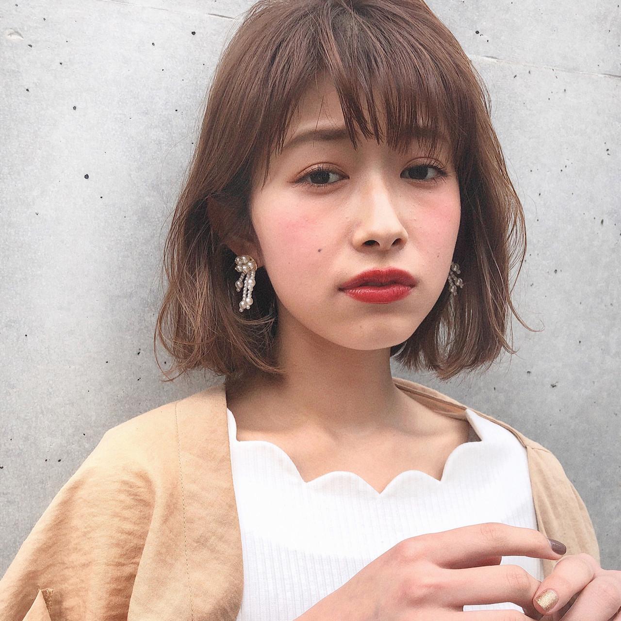 パーマ ナチュラル ボブ 簡単ヘアアレンジ ヘアスタイルや髪型の写真・画像 | 豊田楓 / GARDEN aoyama