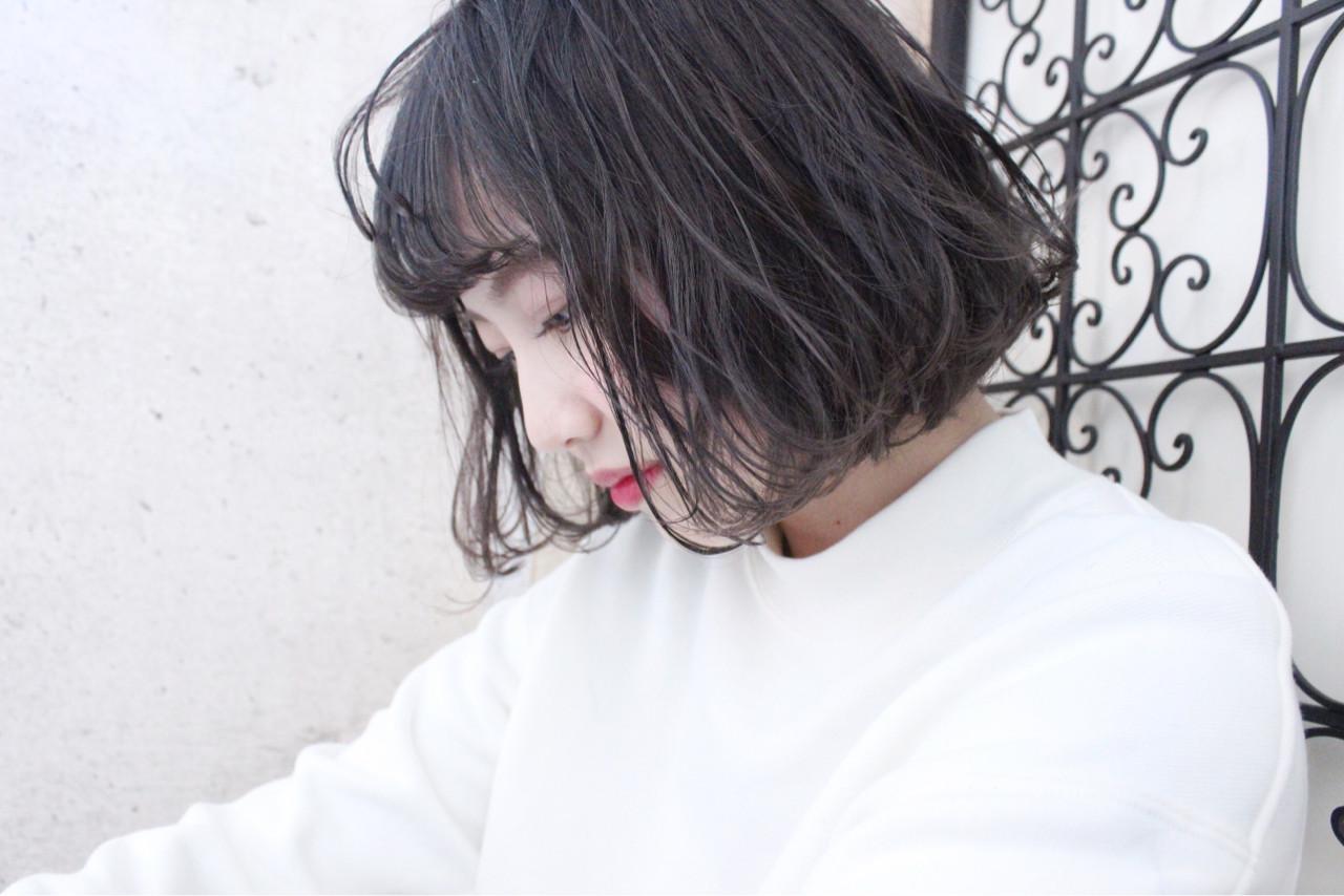 ボブ 外国人風 大人かわいい 冬 ヘアスタイルや髪型の写真・画像 | 上田智久 / ooit 福岡 天神 / ooit