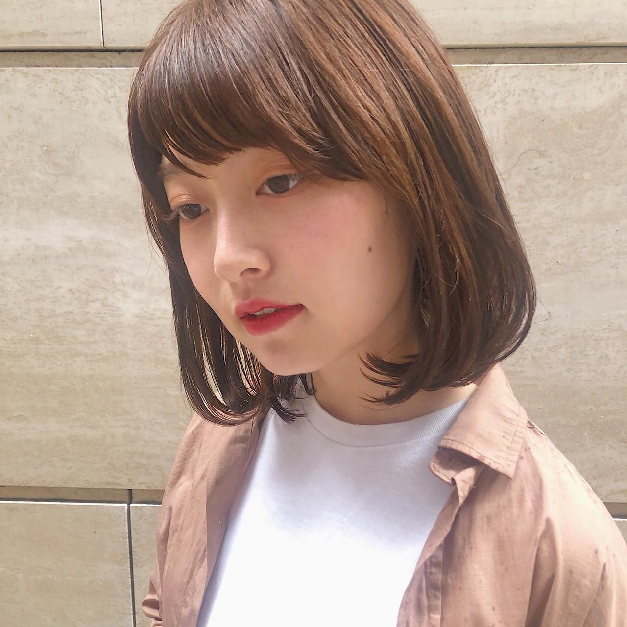 ボブ ナチュラル モテボブ 簡単ヘアアレンジ ヘアスタイルや髪型の写真・画像 | MARIA / EMMA GINZA