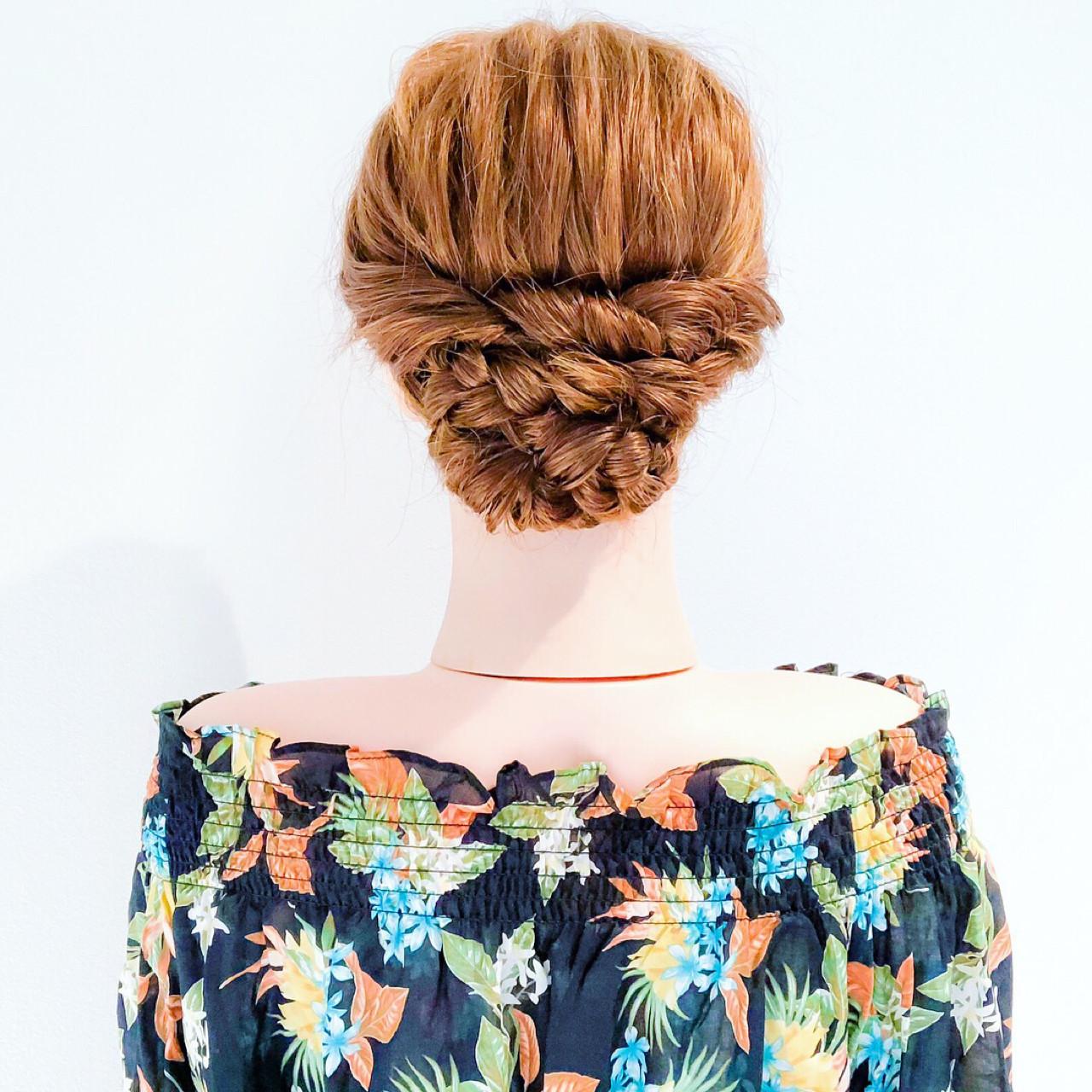 フェミニン 涼しげ ロング 結婚式 ヘアスタイルや髪型の写真・画像