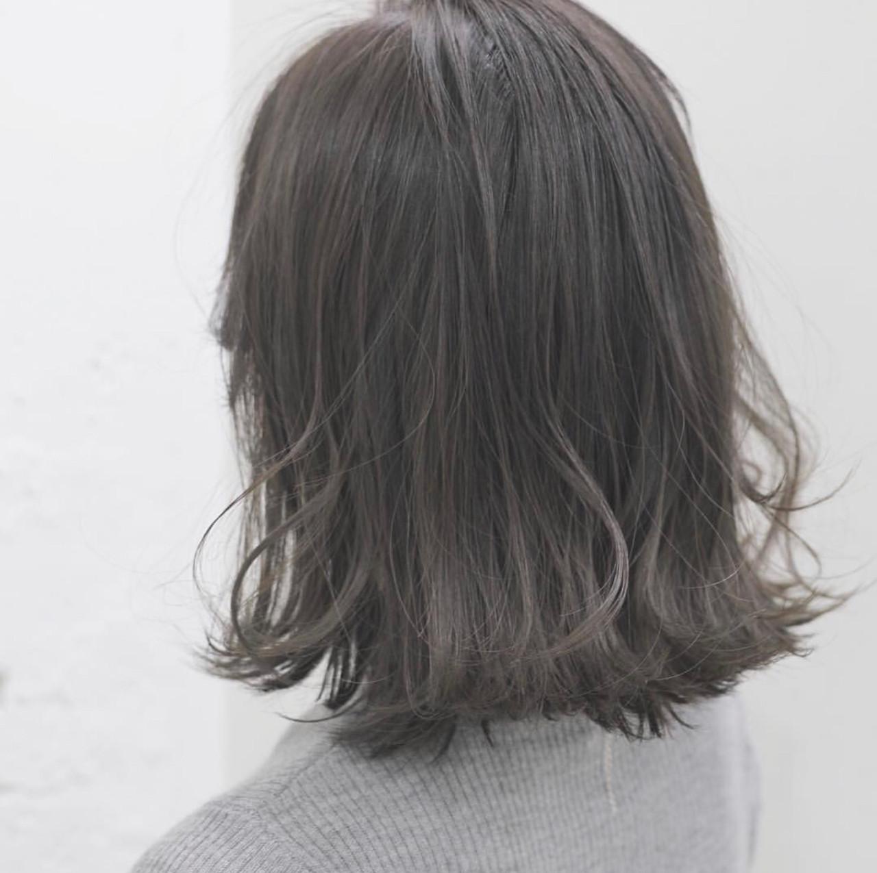 アッシュ ボブ アッシュグレージュ ナチュラル ヘアスタイルや髪型の写真・画像 | 蒔山知洋 / blue faces 表参道 (ブルーフェーセス)