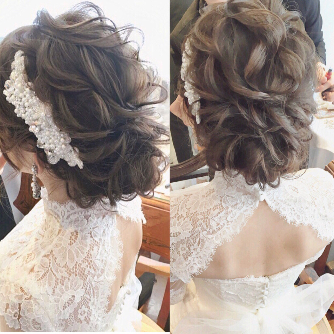 エレガント ヘアアレンジ パーティ 大人女子 ヘアスタイルや髪型の写真・画像