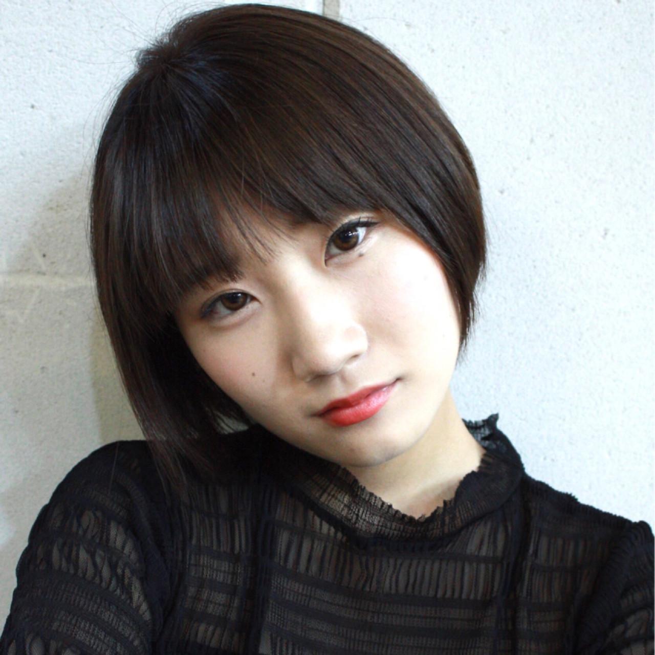モテ髪 小顔 ナチュラル 似合わせ ヘアスタイルや髪型の写真・画像 | 服部 巧 / LOAWe