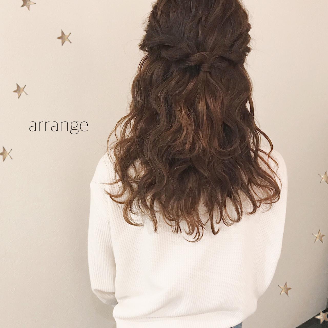 デート ハーフアップ ガーリー 結婚式 ヘアスタイルや髪型の写真・画像 | 市川千夏*札幌 / salon AKIRA