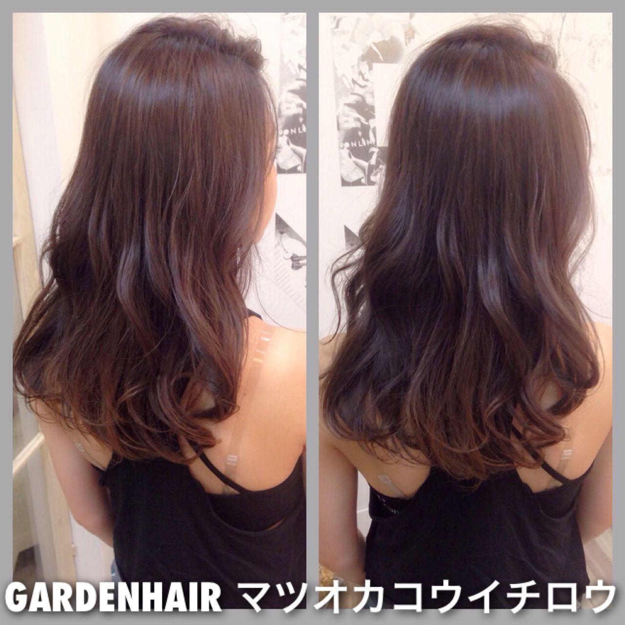 ロング ラベンダーアッシュ 外国人風カラー ラベンダー ヘアスタイルや髪型の写真・画像