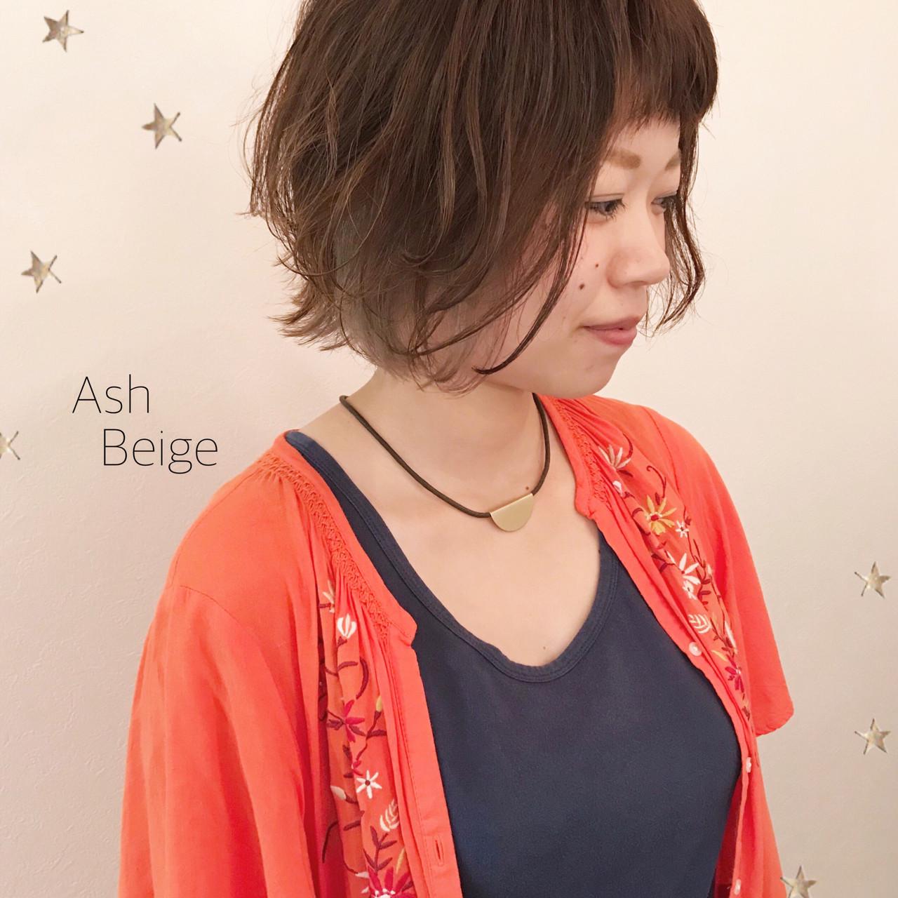 ボブ インナーカラー ゆるふわ ストリート ヘアスタイルや髪型の写真・画像   市川千夏*札幌 / salon AKIRA
