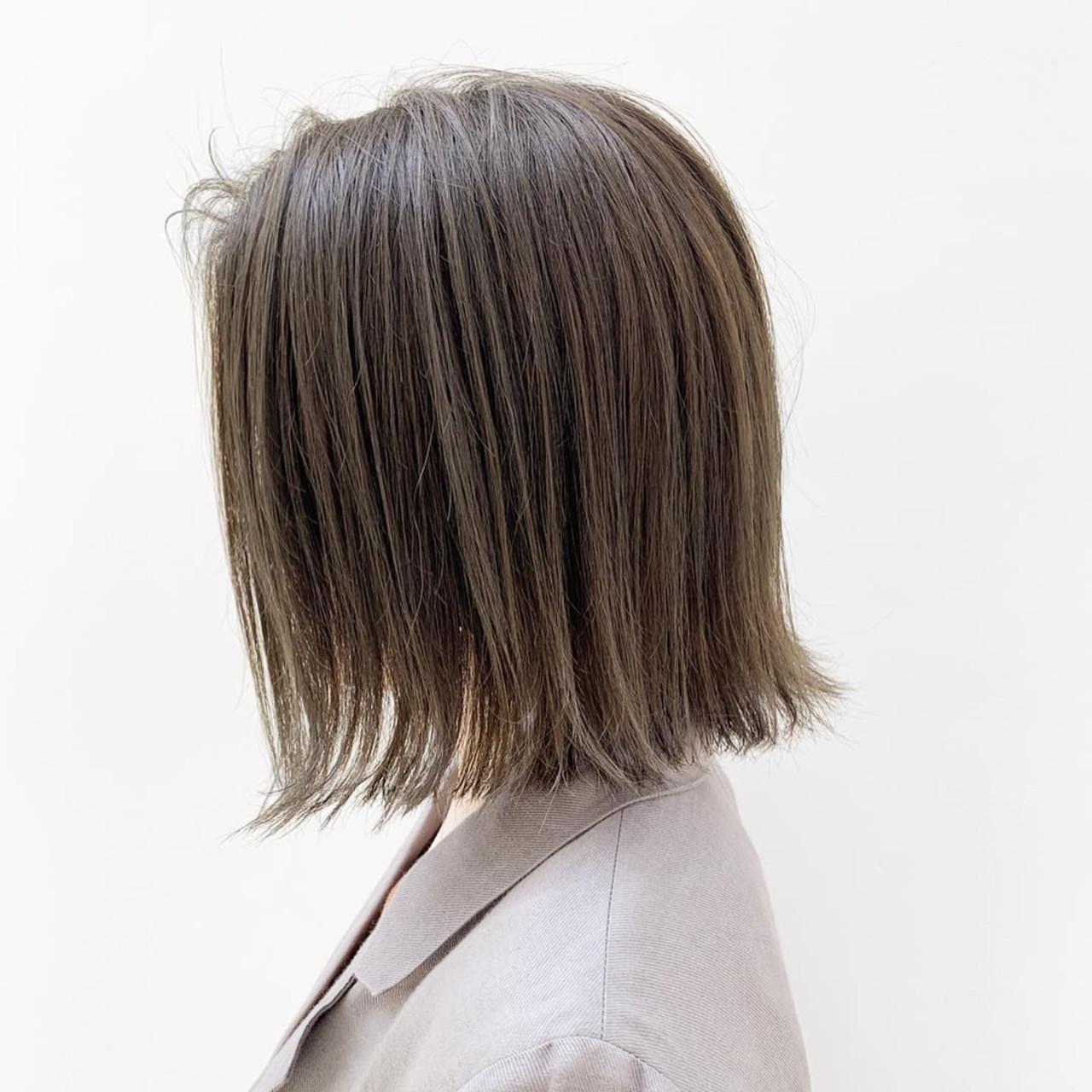 ヘアカラー ハイライト 透明感カラー ナチュラル ヘアスタイルや髪型の写真・画像 | 富永大樹【小顔ショート】【小顔ミディアム】 / Unami