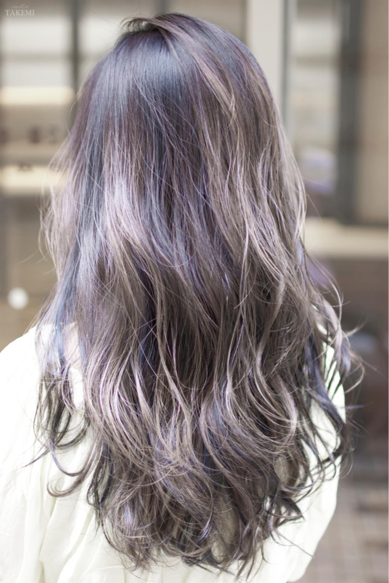 ロング 外国人風カラー ガーリー ハイライト ヘアスタイルや髪型の写真・画像