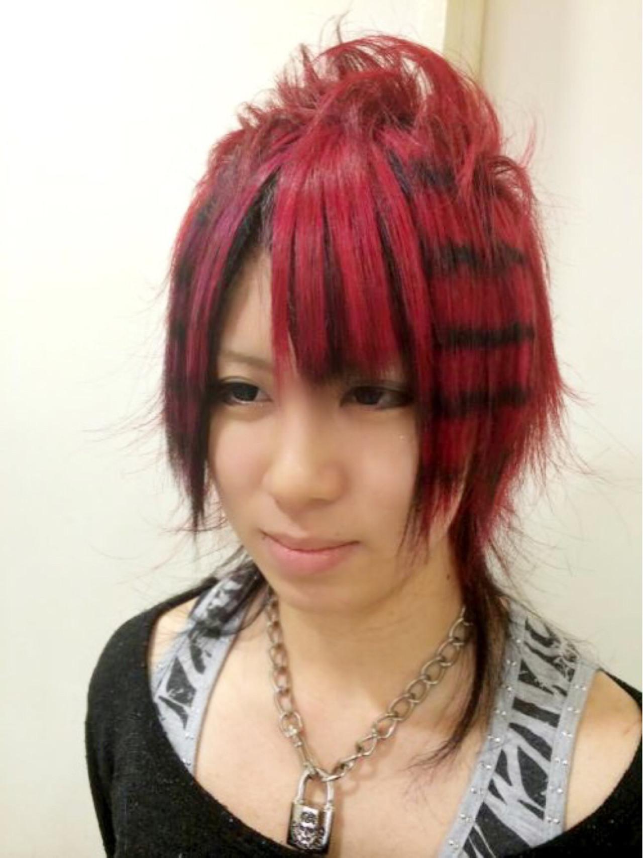 ミディアム モード ヘアアレンジ 夏 ヘアスタイルや髪型の写真・画像