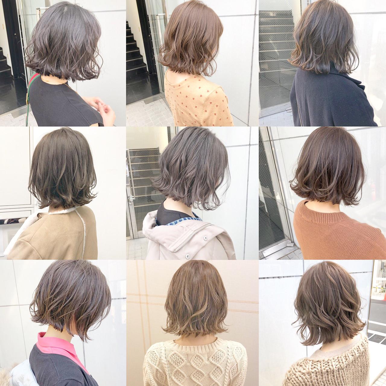 オフィス パーマ デート ナチュラル ヘアスタイルや髪型の写真・画像