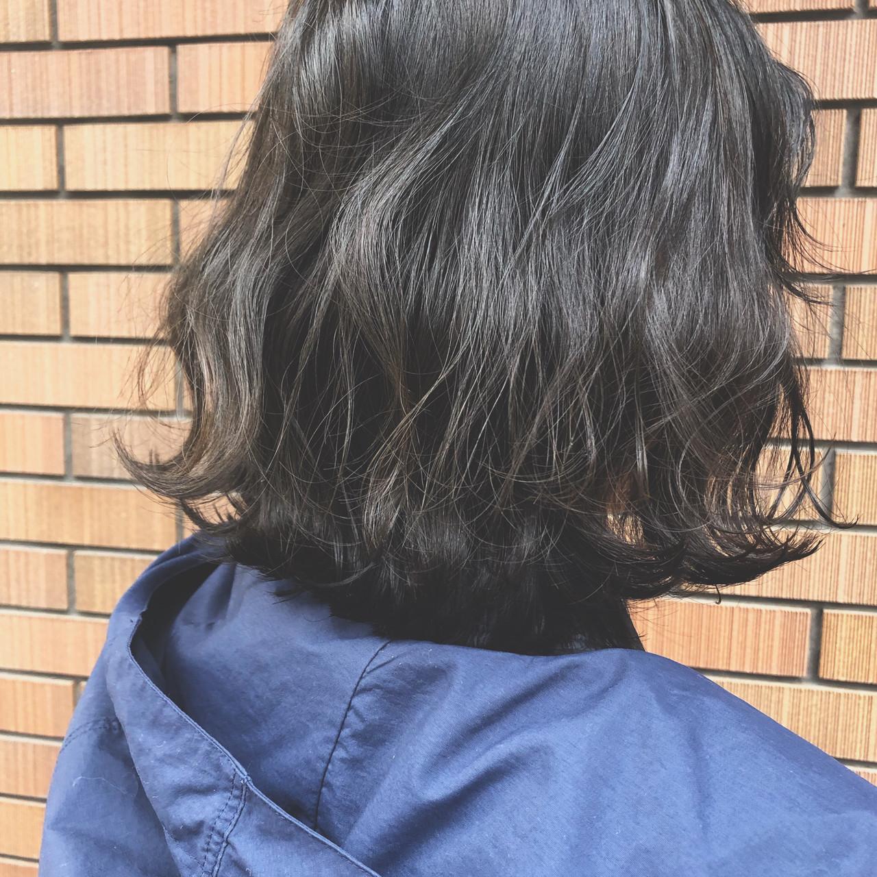 ハイライト ボブ 大人ハイライト オルチャン ヘアスタイルや髪型の写真・画像