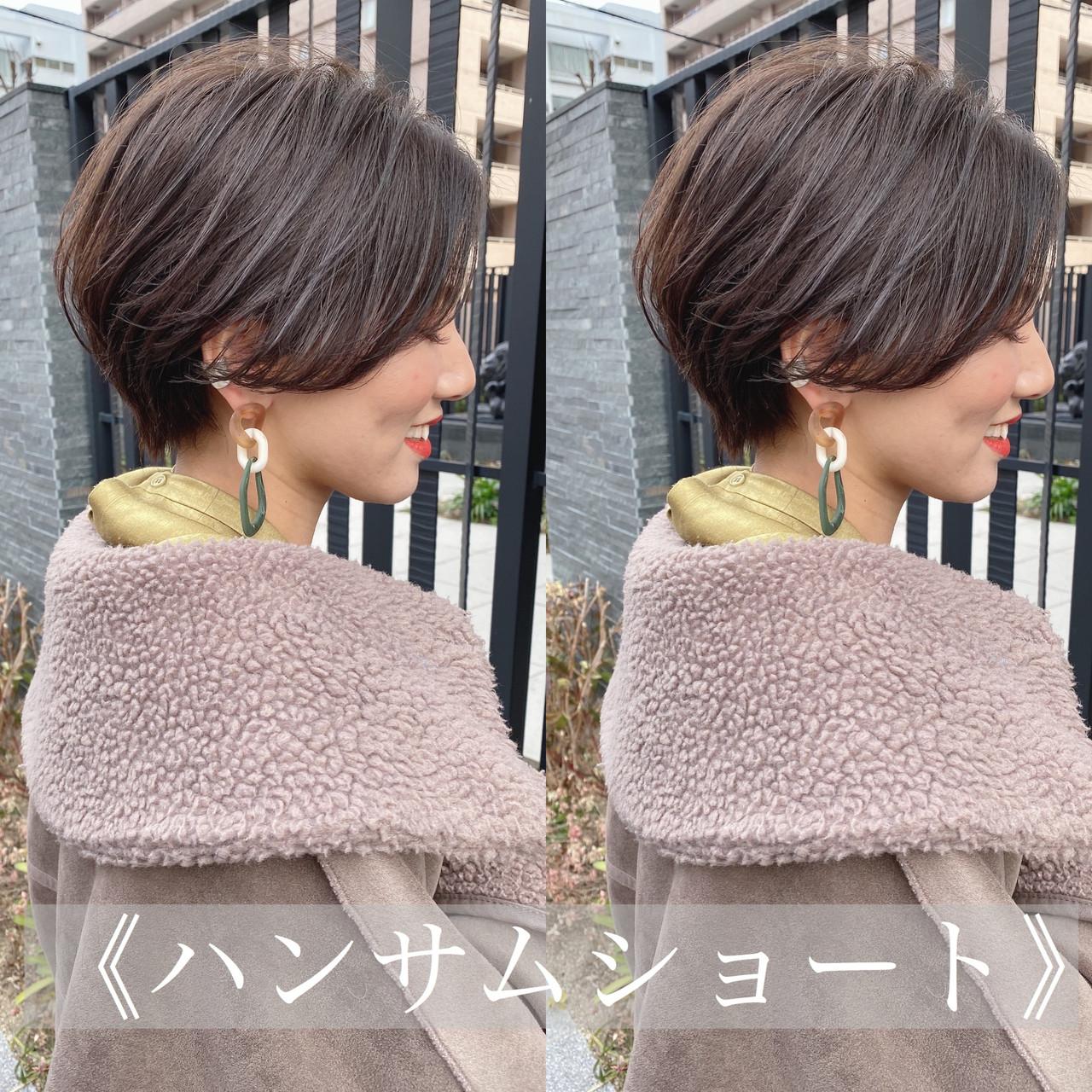 ベリーショート ショートボブ ショート ハンサムショート ヘアスタイルや髪型の写真・画像   島本 涼雅 / Lond damaskRose