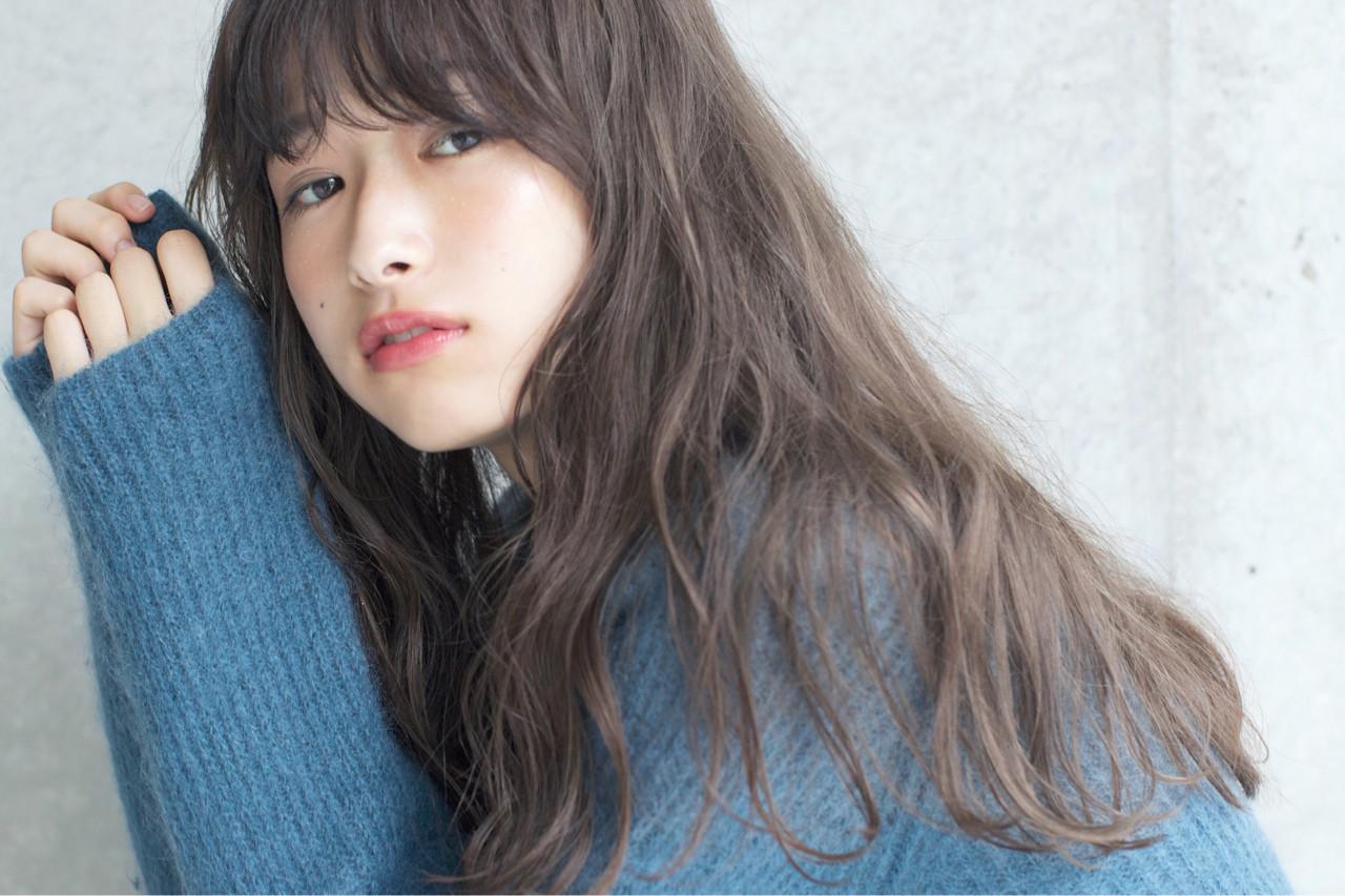 ロング 外国人風カラー アンニュイ 透明感 ヘアスタイルや髪型の写真・画像