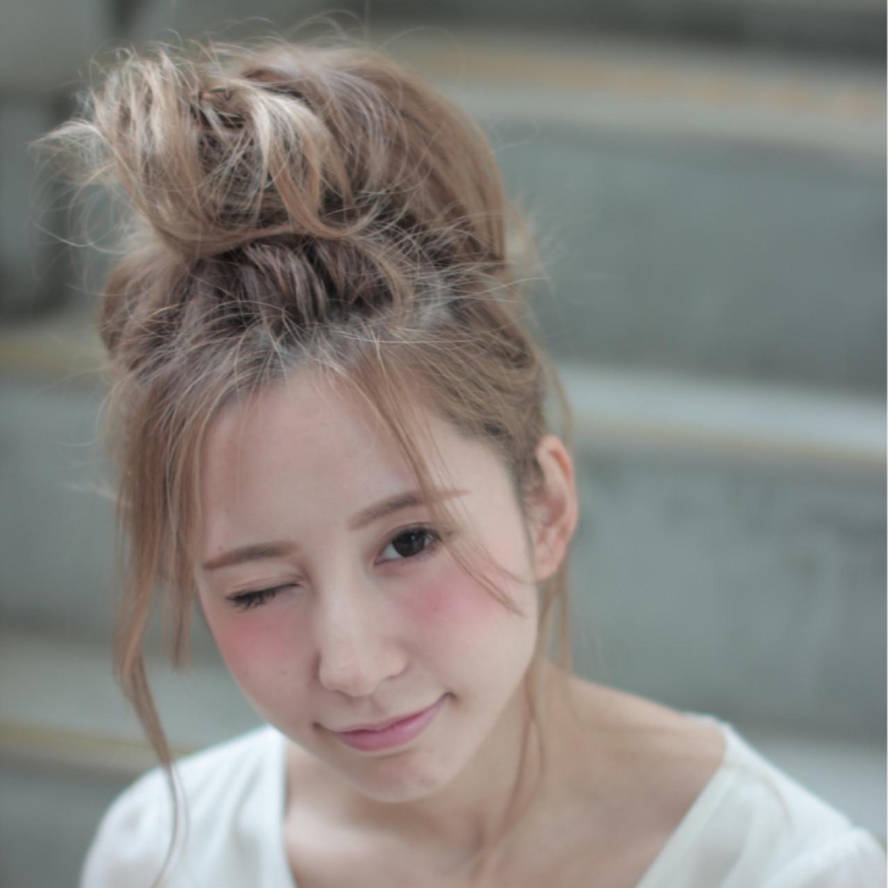 夏 ヘアアレンジ ピュア 外国人風 ヘアスタイルや髪型の写真・画像 | 中村 猛 / MODE K's 塚本店 (モードケイズ)
