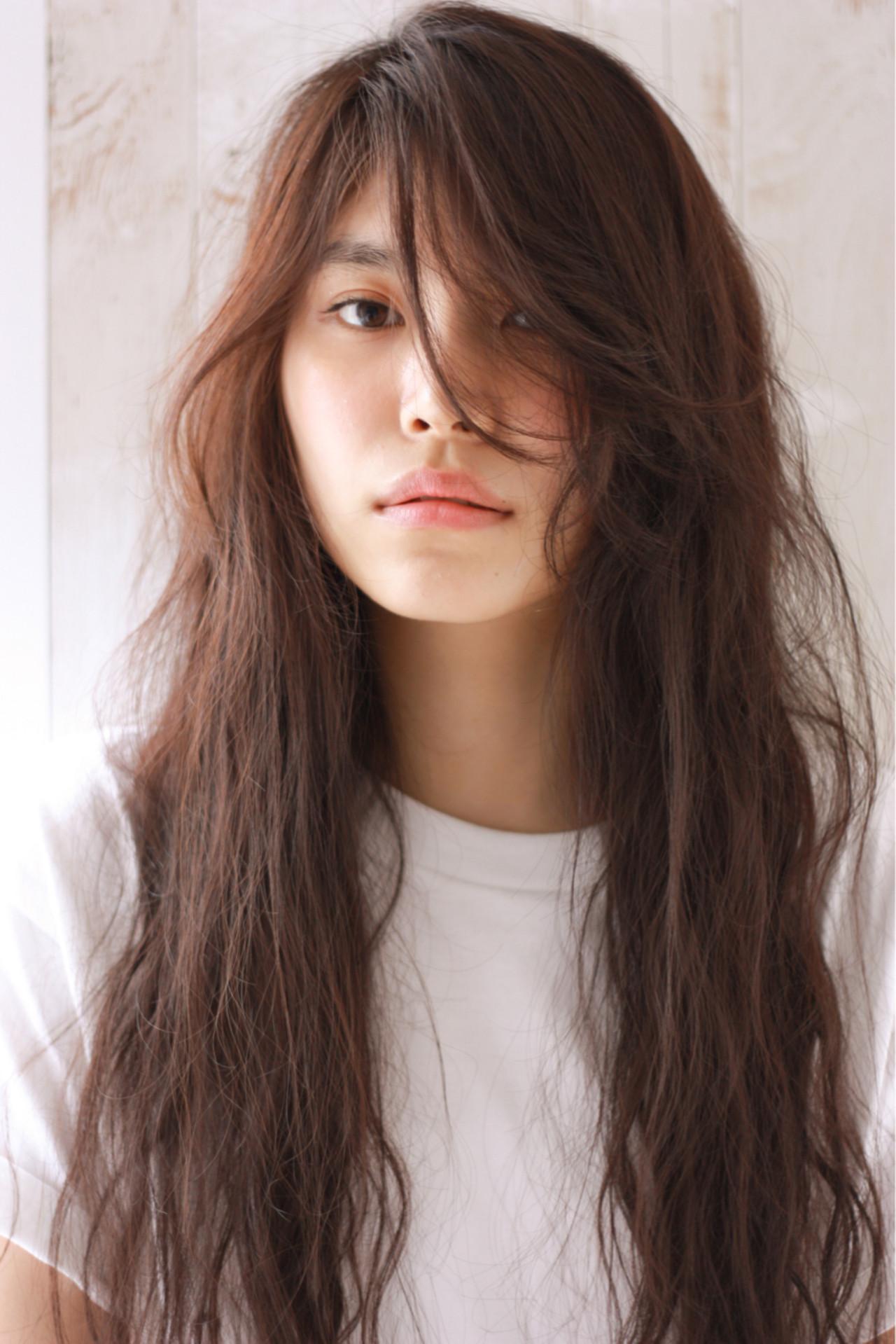 パーマ 前髪あり ストリート アッシュ ヘアスタイルや髪型の写真・画像