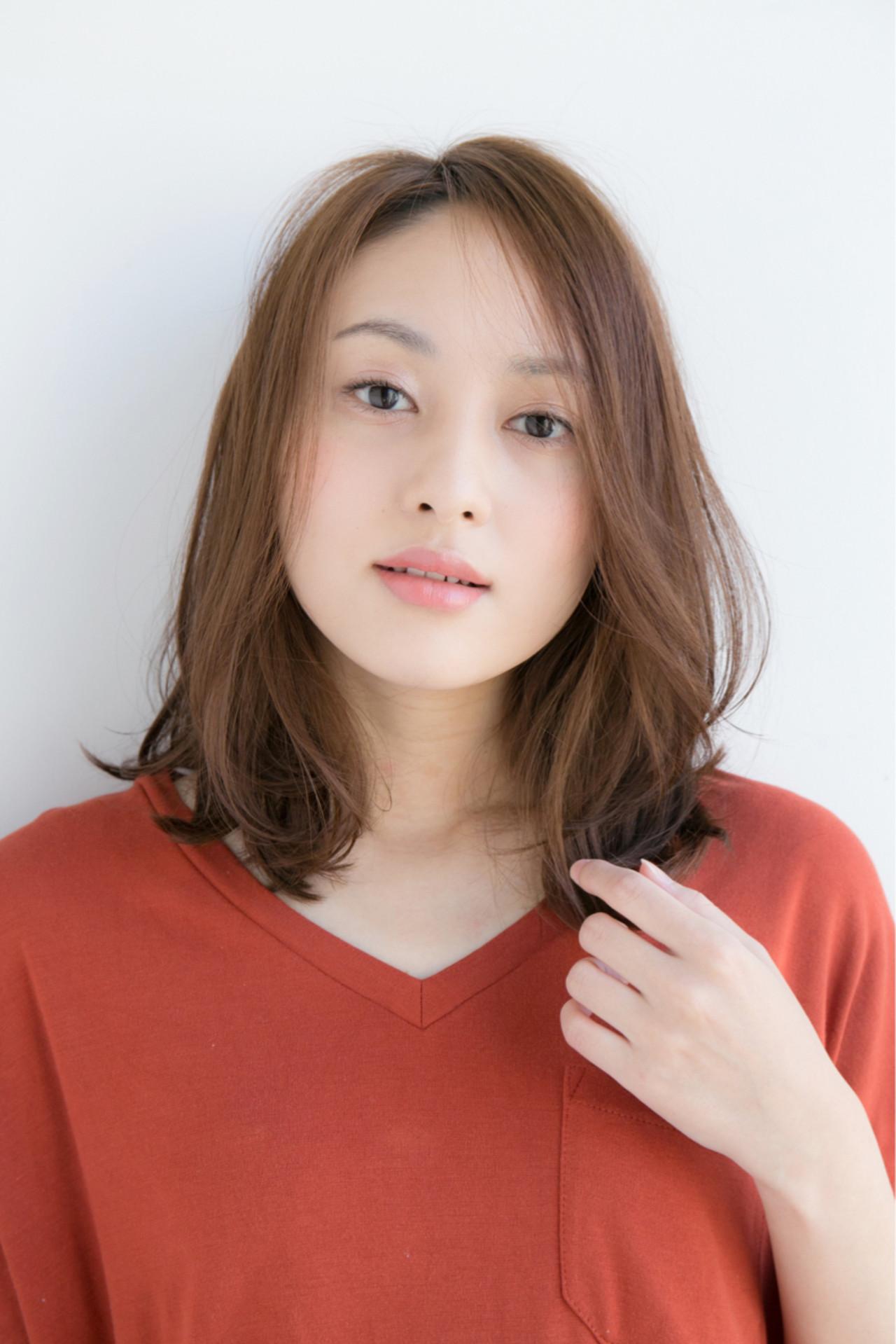 色気 デート ミディアム オフィス ヘアスタイルや髪型の写真・画像 | 松下哲史 / Ramie omotesando