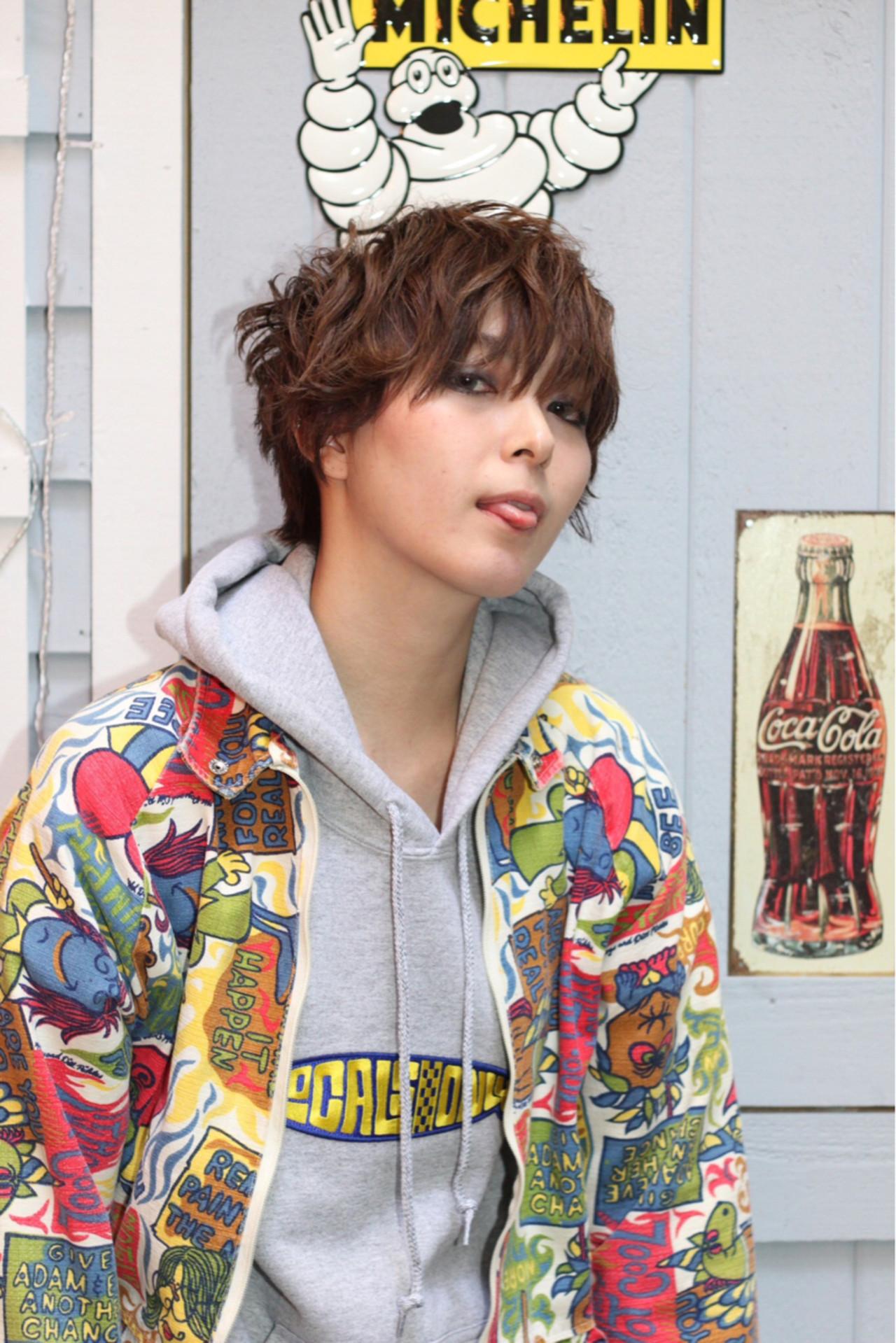 ショート 外国人風 アッシュ ストリート ヘアスタイルや髪型の写真・画像