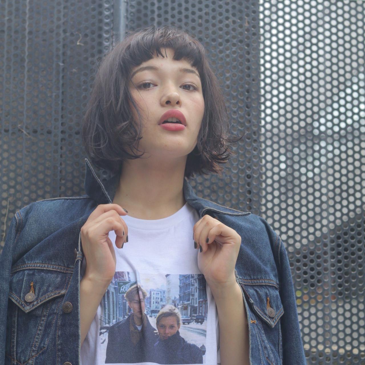 外国人風 ストリート ボブ ゆるふわ ヘアスタイルや髪型の写真・画像