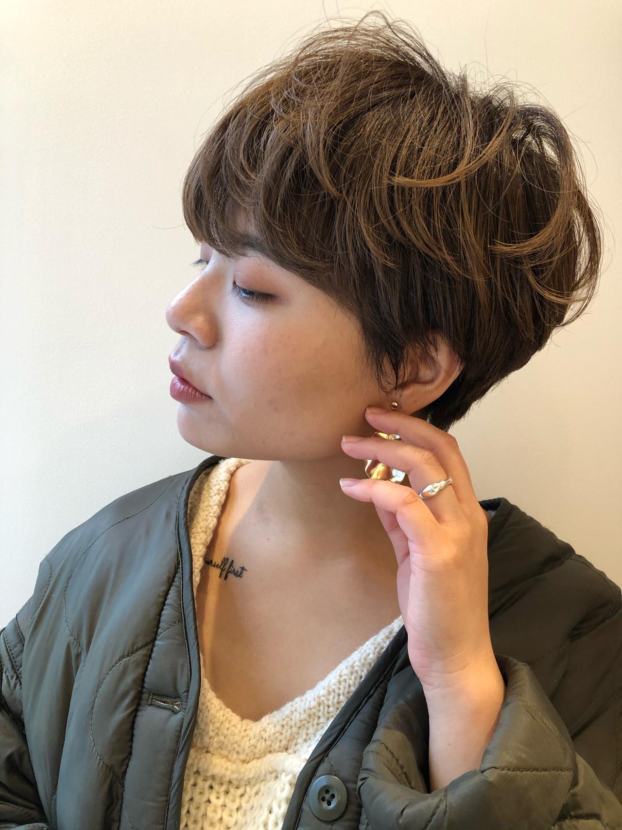 ハンサムショート ショートボブ ショート マッシュショート ヘアスタイルや髪型の写真・画像 | 東田佳祐 / BEAUTRIUM GINZA