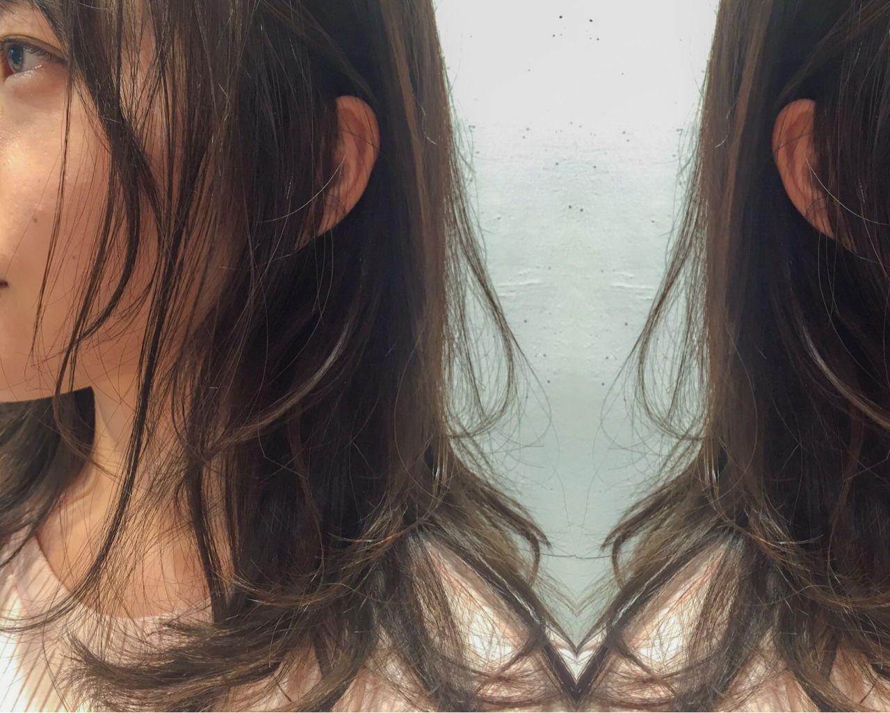 ロング 外国人風 ゆるふわ アッシュ ヘアスタイルや髪型の写真・画像
